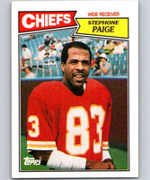1987 Topps #162 Stephone Paige Chiefs NFL Football