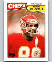 1987 Topps #163 Henry Marshall Chiefs NFL Football