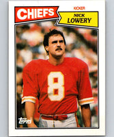 1987 Topps #165 Nick Lowery Chiefs NFL Football