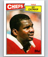1987 Topps #166 Irv Eatman RC Rookie Chiefs NFL Football
