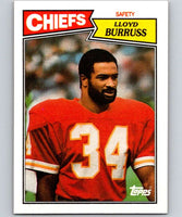 1987 Topps #170 Lloyd Burruss RC Rookie Chiefs NFL Football