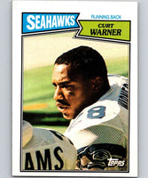 1987 Topps #174 Curt Warner Seahawks NFL Football