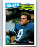 1987 Topps #179 Norm Johnson Seahawks NFL Football