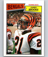 1987 Topps #186 James Brooks Bengals NFL Football