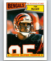 1987 Topps #190 Tim McGee RC Rookie Bengals NFL Football