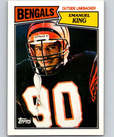 1987 Topps #196 Emanuel King Bengals NFL Football