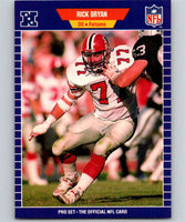 1989 Pro Set #3 Rick Bryan Falcons NFL Football