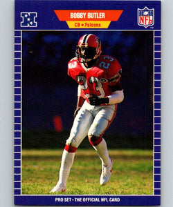 1989 Pro Set #4 Bobby Butler Falcons NFL Football