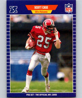 1989 Pro Set #5 Scott Case RC Rookie Falcons NFL Football
