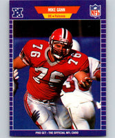 1989 Pro Set #10 Mike Gann Falcons NFL Football