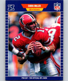 1989 Pro Set #12 Chris Miller RC Rookie Falcons NFL Football