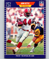 1989 Pro Set #15 John Settle RC Rookie Falcons NFL Football