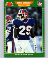 1989 Pro Set #18 Derrick Burroughs Bills NFL Football