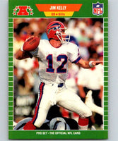 1989 Pro Set #22 Jim Kelly Bills NFL Football
