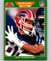 1989 Pro Set #24 Pete Metzelaars Bills NFL Football