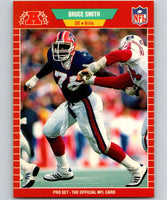 1989 Pro Set #28 Bruce Smith Bills NFL Football