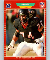 1989 Pro Set #37 Jim Covert Bears NFL Football
