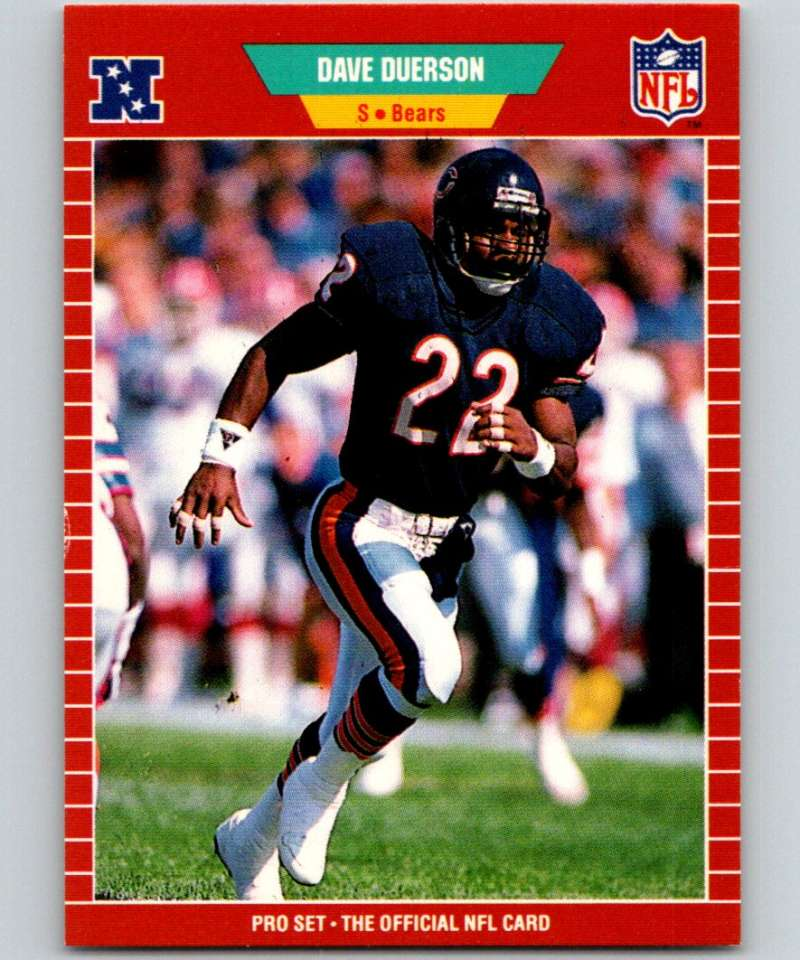 1989 Pro Set #39 Dave Duerson Bears NFL Football