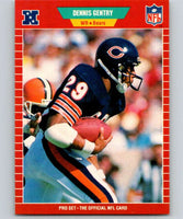 1989 Pro Set #40 Dennis Gentry Bears NFL Football