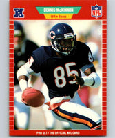 1989 Pro Set #43 Dennis McKinnon Bears UER NFL Football