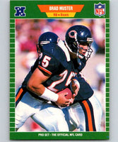 1989 Pro Set #46 Brad Muster RC Rookie Bears NFL Football