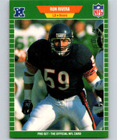 1989 Pro Set #48 Ron Rivera Bears NFL Football