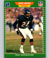 1989 Pro Set #49 Vestee Jackson RC Rookie Bears NFL Football