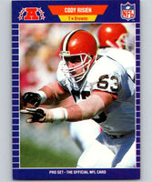 1989 Pro Set #83 Cody Risien Browns NFL Football