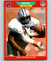 1989 Pro Set #116 Jerry Ball RC Rookie Lions NFL Football