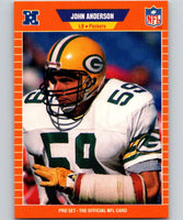 1989 Pro Set #128 John Anderson Packers NFL Football