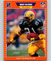 1989 Pro Set #129 Brent Fullwood RC Rookie Packers NFL Football
