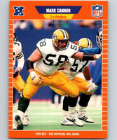 1989 Pro Set #130 Mark Cannon Packers NFL Football