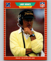 1989 Pro Set #139 Lindy Infante Packers CO NFL Football