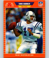 1989 Pro Set #159 Chris Chandler RC Rookie Colts NFL Football