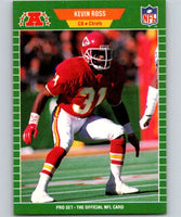 1989 Pro Set #179 Kevin Ross RC Rookie Chiefs NFL Football