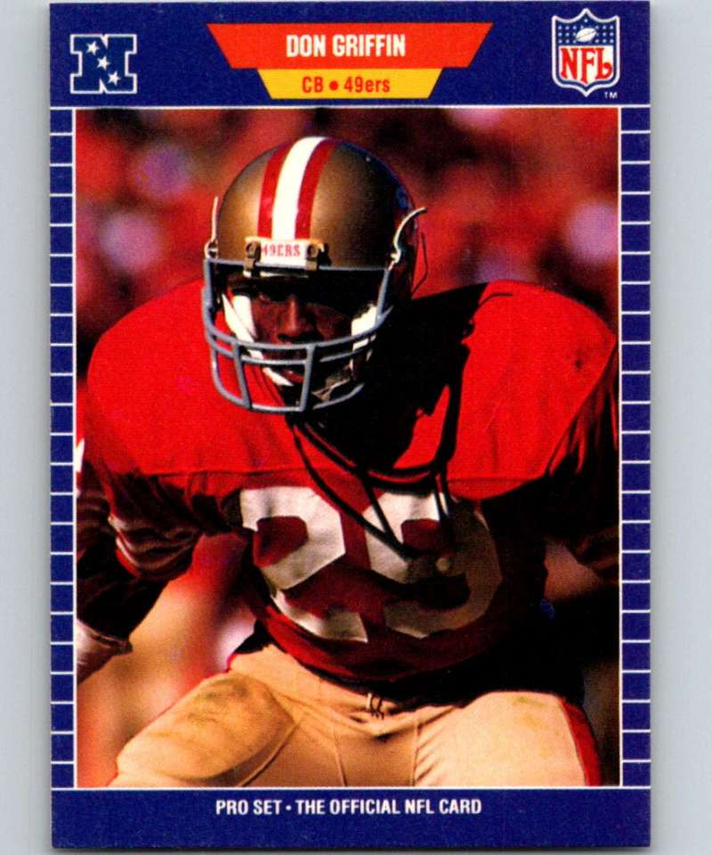 1989 Pro Set #377 Don Griffin 49ers NFL Football