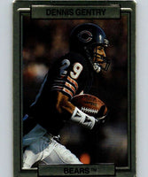 1989 Action Packed Test #5 Dennis Gentry Bears NFL Football