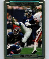 1989 Action Packed Test #11 Raul Allegre NY Giants NFL Football