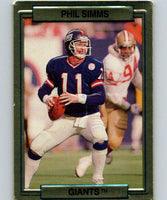1989 Action Packed Test #19 Phil Simms NY Giants NFL Football