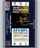 1990 Pro Set Super Bowl 160 #1 SB I Ticket NFL Football