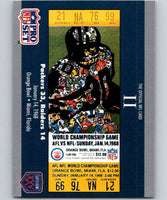 1990 Pro Set Super Bowl 160 #2 SB II Ticket NFL Football