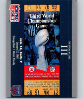 1990 Pro Set Super Bowl 160 #3 SB III Ticket NFL Football