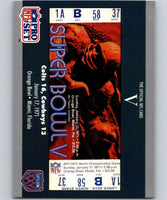1990 Pro Set Super Bowl 160 #5 SB V Ticket NFL Football