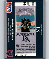 1990 Pro Set Super Bowl 160 #9 SB IX Ticket NFL Football