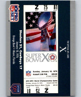 1990 Pro Set Super Bowl 160 #10 SB X Ticket NFL Football