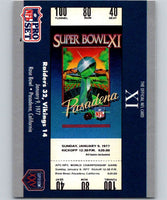 1990 Pro Set Super Bowl 160 #11 SB XI Ticket NFL Football