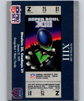 1990 Pro Set Super Bowl 160 #13 SB XIII Ticket NFL Football