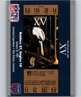 1990 Pro Set Super Bowl 160 #15 SB XV Ticket NFL Football