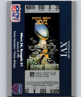 1990 Pro Set Super Bowl 160 #16 SB XVI Ticket NFL Football