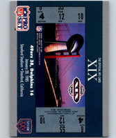 1990 Pro Set Super Bowl 160 #19 SB XIX Ticket NFL Football
